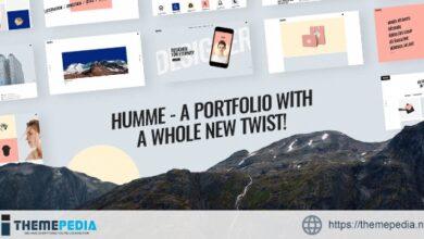 Humme – Design Portfolio Theme [Free download]