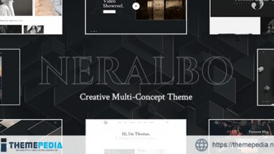 Neralbo – Creative Portfolio Theme [Free download]