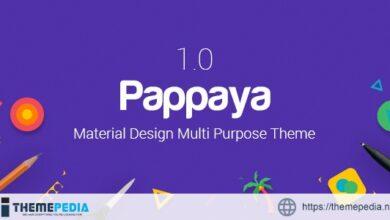 Pappaya – Material Design WordPress Theme [Free download]
