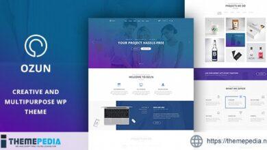 OZUN – Creative and Multipurpose WP Theme [Free download]