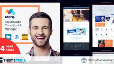 Marq – Social Media Management and Consulting WordPress Theme [Free download]