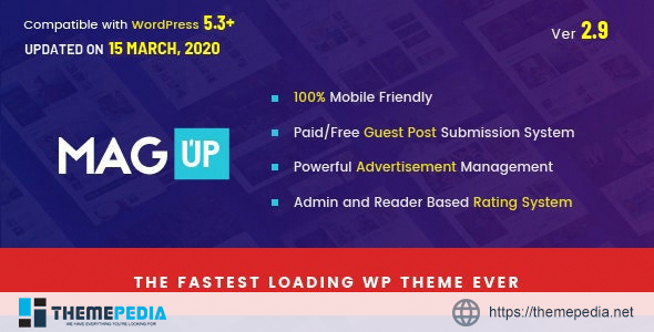 MagUp – Modern Styled Magazine WordPress Theme with Paid – Free Guest Blogging System [Latest Version]