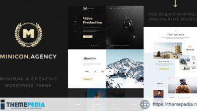 Minicon – Minimal Creative WordPress Theme [Latest Version]