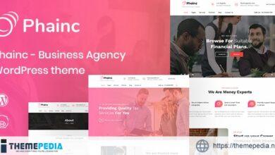 Phainc – Business Agency WordPress Theme [Free download]