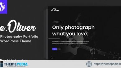 Oliver – Photography WordPress Theme [Free download]