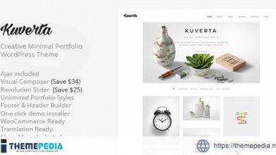 Kuverta – Minimal Portfolio WordPress Theme [Updated Version]
