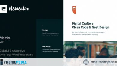 Meelo – Corporate One Page WordPress Theme [Free download]