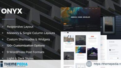 Onyx – Responsive WordPress Blog Theme [Latest Version]