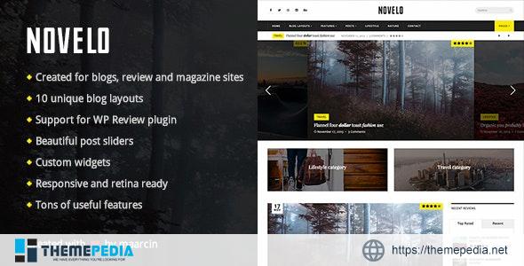 Novelo – Responsive WordPress Blog Theme [Updated Version]