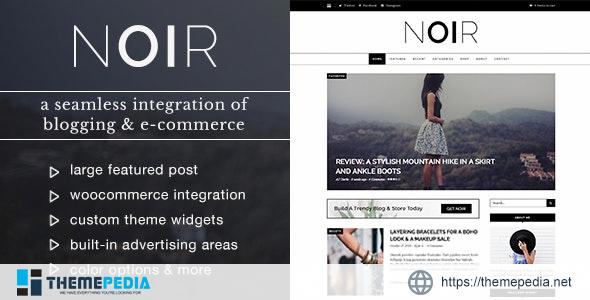 Noir – Blog & Shop WordPress Theme [Free download]