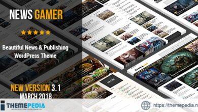News Gamer – A Newspaper Publishing Theme [Free download]