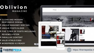 Oblivion – Wordpress Magazine Theme [Free download]