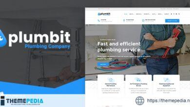Plumbit – Plumbing WordPress Theme [Free download]