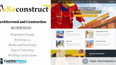 Reconstruct- Construction and Builder WP Theme [Free download]