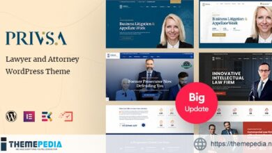 Privsa – Attorney and Lawyer WordPress Theme [Free download]