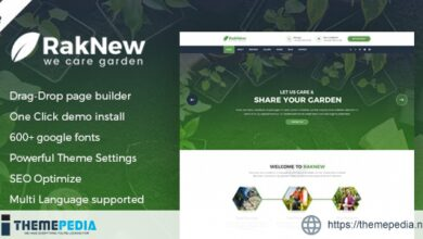 RakNew – Gardening and Landscaping WordPress Theme [Updated Version]
