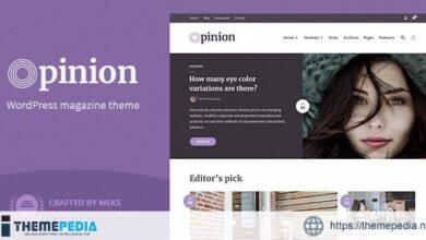 Opinion – Magazine WordPress Theme [nulled]