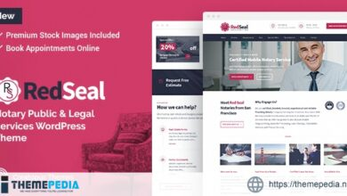 RedSeal – Notary Public and Legal Services WordPress Theme [Free download]