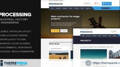 Processing – Factory & Engineering WP theme [nulled]