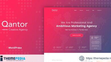 Qantor – Creative Agency Office WordPress Theme [Free download]