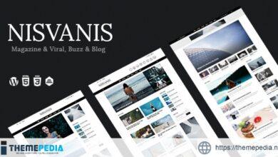 NISVANIS – 3 in 1 Magazine & Viral, Buzz & Blog Theme [Free download]