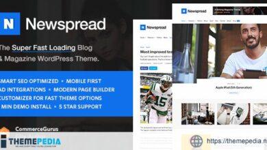 Newspread – Magazine, Blog, Newspaper and Review WordPress Theme [Free download]