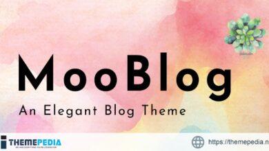 MooBlog – Elegant Blog [Free download]