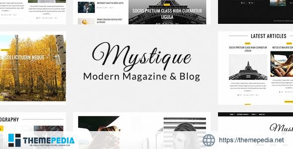 Mystique- Fast – Clean – Flexible WordPress Magazine News Blog Theme [Free download]