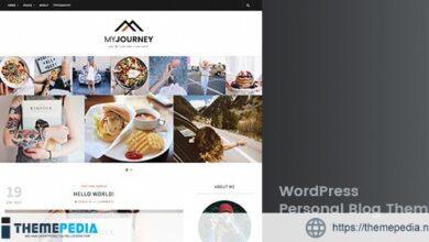 My Journey – Personal Blog WordPress Theme [Free download]