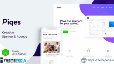 Piqes – Creative Startup & Agency WordPress Theme [Free download]