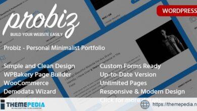 Probiz – Freelancer Resume WordPress Theme [Updated Version]