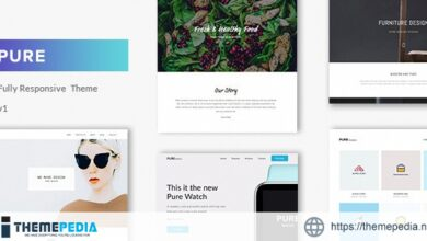 Pure – Minimal Portfolio WordPress Theme [Updated Version]