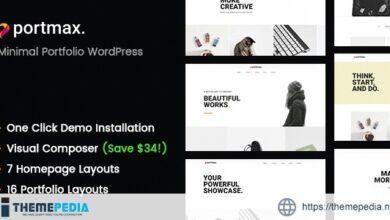 PortMax – Minimal Portfolio WordPress Theme [Free download]