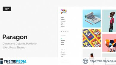 Paragon – Colorful Portfolio for Freelancers & Agencies [Free download]