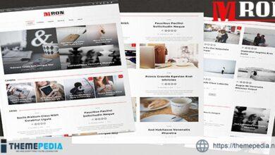 Mron – Clean Blog & Magazine Theme [Free download]