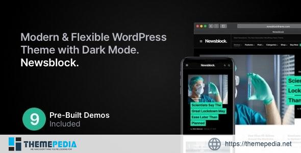 Newsblock – News & Magazine WordPress Theme with Dark Mode [Free download]