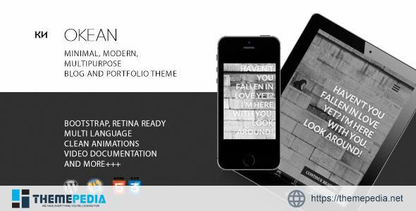 Okean – Multipurpose, Minimal, Multiscroll Blog-Portfolio Theme [Updated Version]