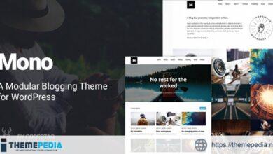 Mono – A Modular Blogging Theme for WordPress [Updated Version]