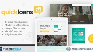 QuickLoans – Loan Company & Banking Business WordPress Theme [Free download]