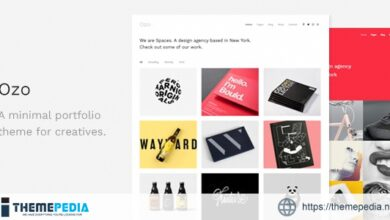 Ozo – Minimal Portfolio WordPress Theme [Free download]