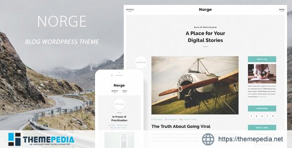 Norge – Responsive Blog WordPress Theme [Free download]