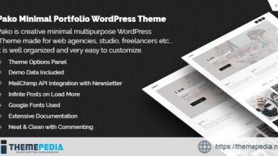 Pako Minimal Portfolio WordPress Theme [Free download]