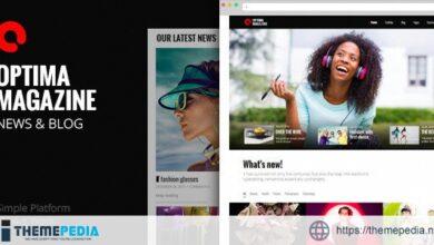 Optima – Simple Magazine WordPress Theme [Free download]