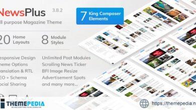 NewsPlus – News and Magazine WordPress theme [Free download]