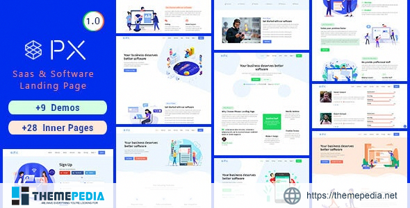 PXaas – App & Software Landing Page Theme [Free download]