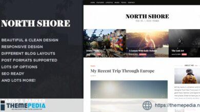 North Shore – A Responsive WordPress Blog Theme [Free download]