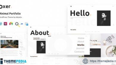 Oxer – Minimal Portfolio WordPress Theme [Latest Version]