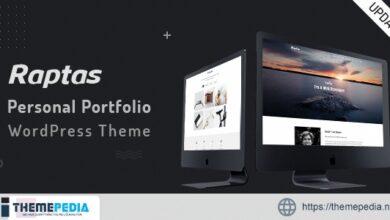 Raptas – Personal Portfolio WordPress Theme [Free download]