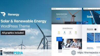 Renergy – Solar and Renewable Energy WordPress Theme [Free download]