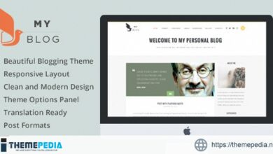MyBlog – Responsive Blog Magazine Theme [Free download]